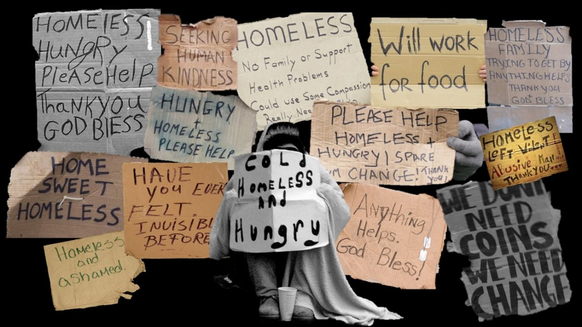 Homelessness collage - fran newton